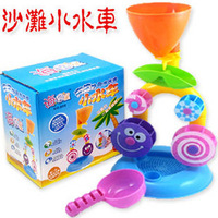 Summer water small waterwheel bath toys watertruck beach hourglass c110