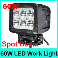 Free DHL Ship 2pcs/lot 10-30V 6pcs*10w Cree LED Chip 60W 4X4 tractor offroad LED work light led working lamp LED Driving Light