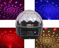 High Quality! 6 Channel DMX512 Control Digital LED RGB Crystal Magic Ball Effect Light DMX Disco DJ Stage Lighting Free Shipping