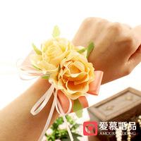 free shipping Wedding supplies wedding supplies hand flower hand flower bridesmaid wrist length flower handmade corsage fzh14