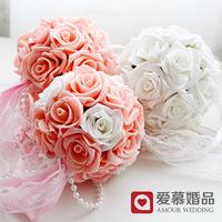 free shipping Wedding car decoration mini bouquet 5 wedding supplies decoration flower ball fzh07