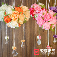 free shipping Mini bouquet wedding car decoration rose ball decoration wedding supplies decoration flower fzh28
