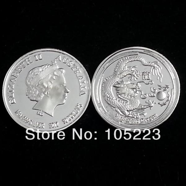 Serie Lunar II Año del Dragon DHL-Free-Shipping-500Pcs-Lot-1Gram-999-Pure-Solid-Silver-Chinese-Lunar-Dragon-Australia-AU-Queen