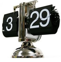 free  shipping Semiportal flip clock auto flip table alarm clock