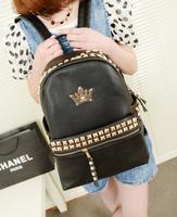 Bags 2013 women's handbag summer new arrival rivet backpack middle school students school bag