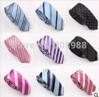 Wholesale Fashion Mens skinny tie polyester neck tie striped tie Free shipping 10PCS. #1565