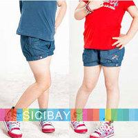 Girls Shorts Children Summer Wear Free Shipping Girl Jean Shorts Kids Summer Fashion Shorts Casual Pants,5pcs/lot K0867
