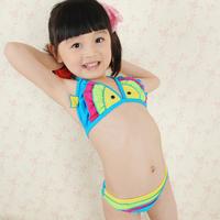 2014 Direct Selling Freeshipping Nylon Striped Design And Color Pro Mouth Fish Bikini Swimwear Hot Spring Female Big Boy Child
