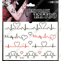 A Free Trial New DIY ECG couple environmentally friendly fashion tattoo sticker lasting not fade k56