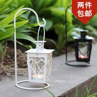Fashion mousse iron lantern mousse candle mousse home decoration accessories