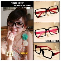 WHOLESALE (20PCS,MULITICOLOR) Cute Girl Fashion Eyeglass Frame /Hot Selling eyewear accessory Black Frame FREE SHIPPING