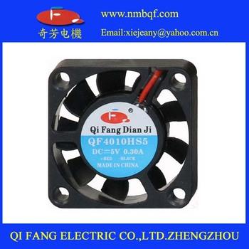 10PCS/lot Black 2 Pin 12V 40mm x 10mm 4010 5V Brushless DC Fan PC Cooling Cooler Fan