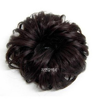 Hair circle wig kinkiness bag meatball head bud roll involucres