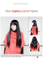 Pure princess women's wifing broken bangs , fluffy repair the high temperature wire long straight hair