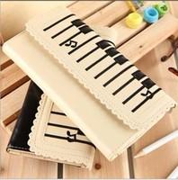 fashion bag women day clutch piano keyboard bag women wallet card holder musical note PU leather bag balck/white 20*10cm