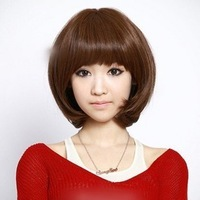 Free Shipping 3 Color shade Wig synthetic curly human hair wigs for female
