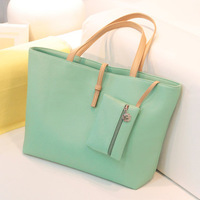 2014 spring candy color big bag trend vintage women's handbag  female bags