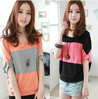 New Korean Style Fashion Women Summer Loose Striped Casual Women Cotton Shirts Free Shipping LJ412