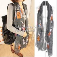 Fashion shawl Ms. Cotton Hemp Scarf bunny Scarf scarves sunscreen ultra-long female+mm007
