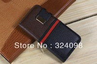 Christmas Day sale DHL free shipping 50pcs /lot top quality leather flip case cover accessory for iphone 5 5g 5th mobile phone