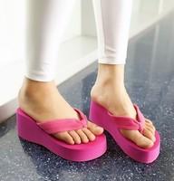 Summer women's platform high platform heels beach flip flops fashion sandals