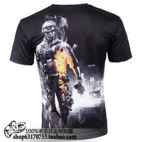 2013 new hot sale o-neck short sleeve 3D hero prints plus size S-5XL novelty T-shirt men's clothing  TCQ090