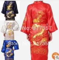 M en sleepwear costume summer pajamas nightgown pajamas embroidered dragon costume