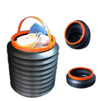 Retractable car bucket garbage bucket car storage bucket car trash can garbage container