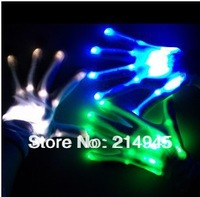 Hip-hop gloves luminous gloves flash gloves led glove for party 6pcs (3 pairs) free shipping