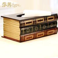 Fashion books wool box tissue pumping box table napkin paper box big home decoration