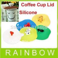 600pcs/lot Coffee Cup / Teapot Mug Glass Airtight Silicone Cover Lid Mug Cap FEDEX Free Shipping