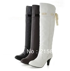 Winter new women's high-heeled boots with knee-high boots, fashion boots cone(China (Mainland))