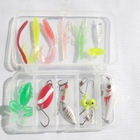 Fishing lure set lure rotating paillette to be bait bionic bait soft ure set------ Free shipping