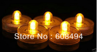 SUPER Bright Single Submersible Waterproof Led Tea Light for Wedding Floralytes/Christmas/Valentine party-COLOR AMBER
