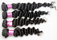 4 Bundles 100% Brazilian Remy Human Hair Extensions Deep Wave 12'' - 32'' can be dyed ombre unprocessed weave