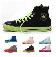 2013 New Fashion trend High/Low Dazzle colour Men/Women canvas shoes