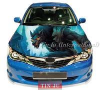 Free shipping   High Definition DIY Car Hood Painting Vinyl Sticker Wolf TJ-0013