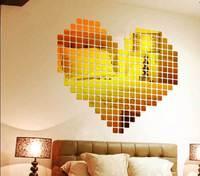 5X5 CM DIY three-dimensional acrylic crystal wall stickers creative mosaic  TV backdrop stickers minimalist fashion large