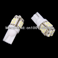 Free shipping  10x T10 W5W 194 168 501 Car White 20 SMD LED Inverted Side Wedge Light Bulb 12V