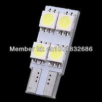 Free shipping 10X Car 4 LED 5050 SMD T10 501 W5W 168 Bulb Side Light Lamp Pure White 12V DC