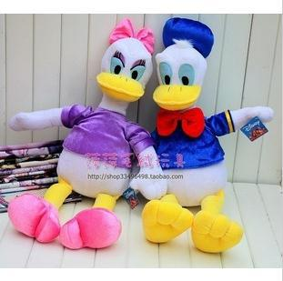 a pair hot sale big size Christmas with Donald plush toys/Daisy Daisy princess couple plush dolls birthday gifts 35cm