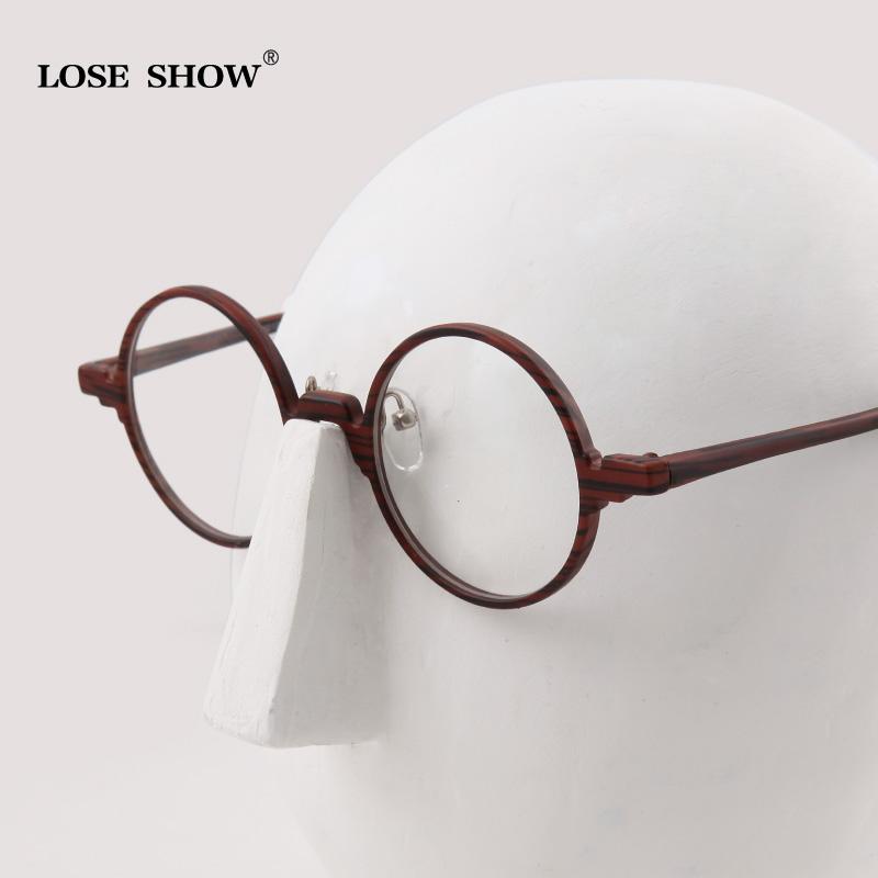 Mens Round Frame Glasses : Fashion loseshow Men Women vintage round box eyeglasses ...