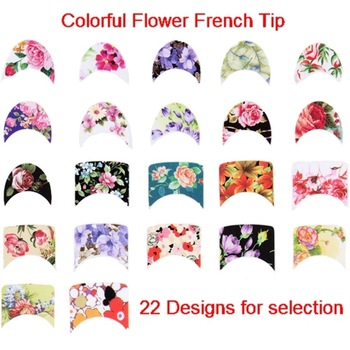 22 Designs French Floral Tip Nail Art Wraps Water Transfer Nail Stickers  Free Shipping