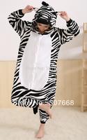 1 pcs Zebra lovely Zebra unisex Winter Animal Pyjamas costume Sleepwear