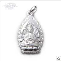 high quality fine 999 silver pendants  pure silver Thousand-hand Bodhisattva pendant  lucky pendants