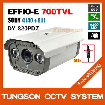 Super Cheap,New 1/3'Sony Effio 700tvl 4140+811 OSD Menu 2PCS Array Indoor/Outdoor Waterproof Night Vision CCTV Camera Security