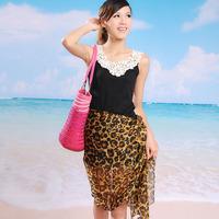 Summer Classical Leopard Printed chiffon Long Scarf