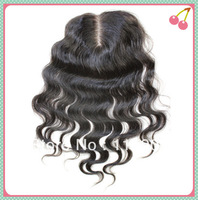 Love Story Hair  Free Shipping 4*4 inch Body Wave Middle Part Lace Top Closure Brazilian Virgin Human Hair