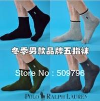 Free Shipping (5pairs/lot) Top quality POLO Classic men's FIVE TOE SOCKS cotton socks men fashion & health socks sports Hosiery