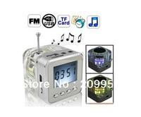 New Arrival 20pcs Mini USB Speaker Led Portable Digital Lcd Screen NiZHi Music Player FM Radio TT-028 Support TF Card
